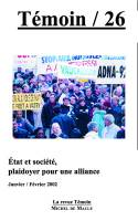 n° 26 - Été et société,plaidoyer pour une alliance (janvier-février2002)