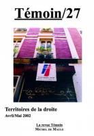n° 27 - Territoires de la droite (avril-mai2002)